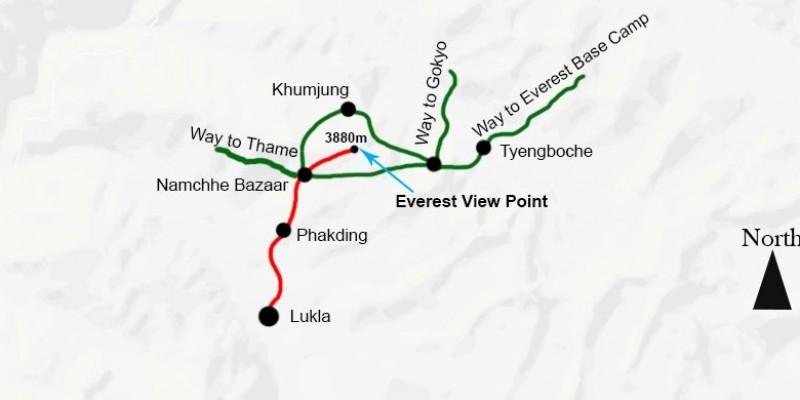 Everest View Trek - 8 Days routemap