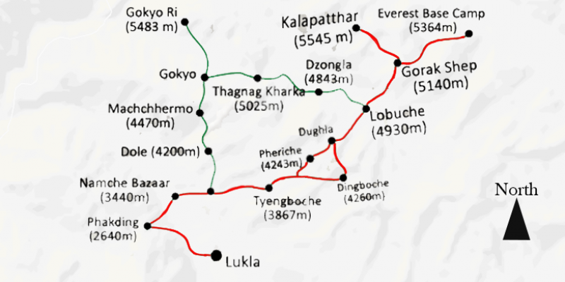 Everest Base Camp Trek - 13 Days routemap