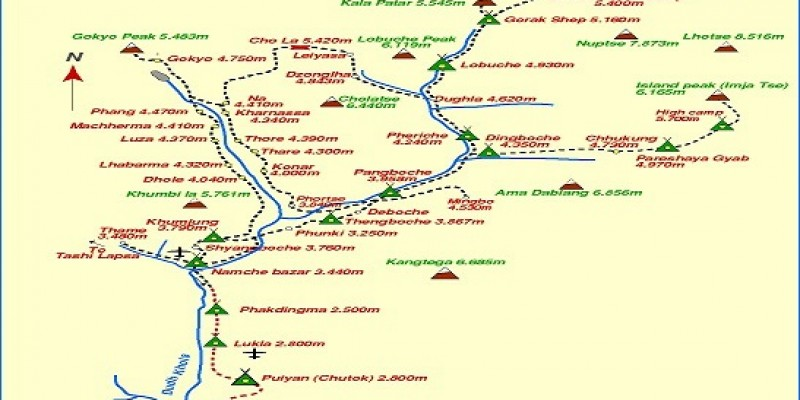 Nepal Introductory Trip routemap