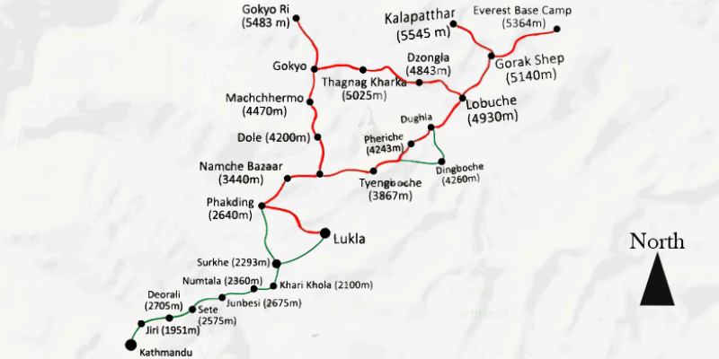Everest Base Camp Trek via Gokyo Valley - 18 days